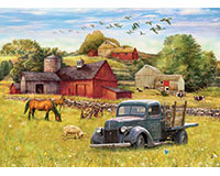 Blue Truck Farm 35 pc Tray Puzzle-OM58890