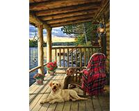 Cabin Porch 1000 pc Puzzle-OM80005