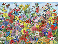 Butterfly Garden 1000 pc Puzzle-OM80032