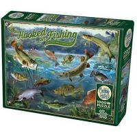 Cobble Hill 1000 Piece Puzzle - Hooked On Fishing-OM80319