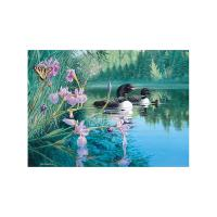 Cobble Hill Iris Cove Loons 500-Piece Puzzle-OM85069