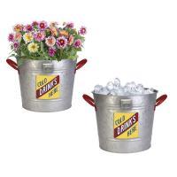 Vintage Ice Bucket Planter-PAN83290