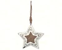Vintage Burlap Star-SV13976