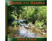 Sounds of the Ozarks Birds & Creek CD-PVP100