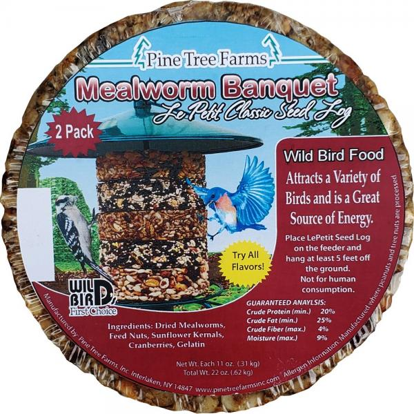 Le Petit Mealworm Classic Seed Log 2 pack