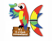 Island Parrot Spinner 20 inch-PD25681