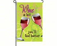 Wine A Bit Garden Flag-PD51286