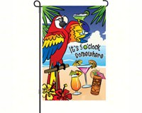 5 O'clock Somewhere Garden Flag-PD56008