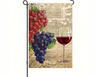 Vintage Wine Garden Flag-PD56077