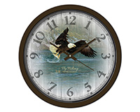 Fly Fishing 15 inch Decorative Clock-RAI29311