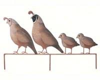 Quail Family Yard Art-REGAL05339