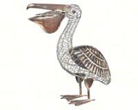 Rustic Pelican Decor-REGAL10278