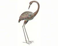 Standing Art Large Crane Preening-REGAL10314
