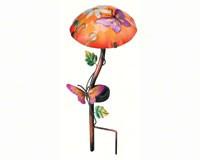 Solar Mushroom Stake Butterfly-REGAL10341