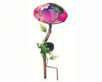 Solar Mushroom Stake Frog-REGAL10343