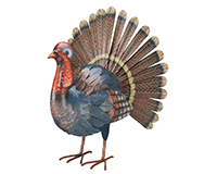 Turkey Decor 17 inch-REGAL10460