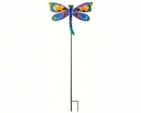 Floral Dragonfly Stake Blue-REGAL10834