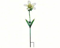 Solar Tiger Lily Stake White-REGAL10838