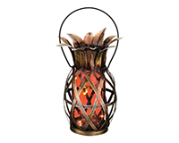 Solar Pineapple Lantern - Orange-REGAL11867