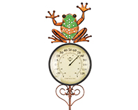 Frog Thermometer Stake-REGAL11924