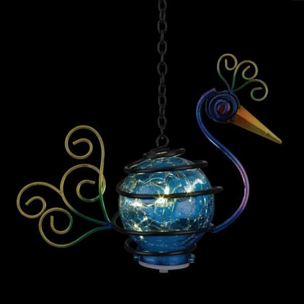 Bird Solar Lantern Peacock