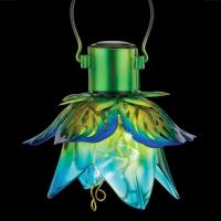 Mini Flower Solar Lantern Blue-REGAL12562