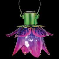 Mini Flower Solar Lantern Pink-REGAL12564