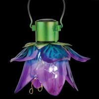 Mini Flower Solar Lantern Purple-REGAL12565
