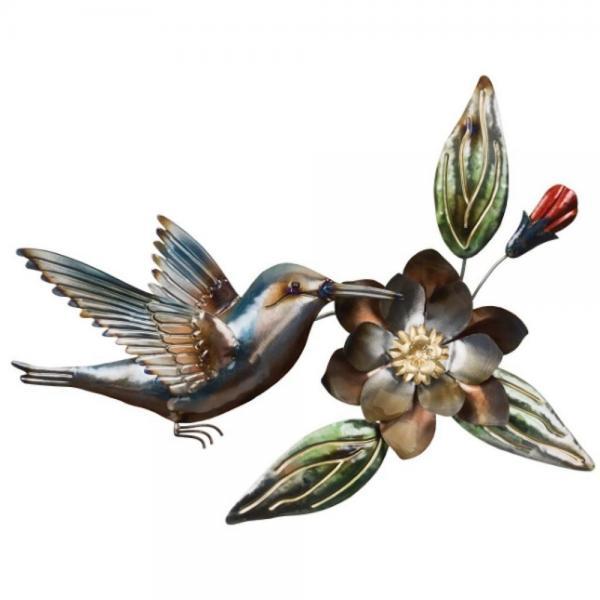 Metallic Hummingbird Wall Decor