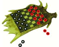Moose Antler Checkerboard Set-REP706