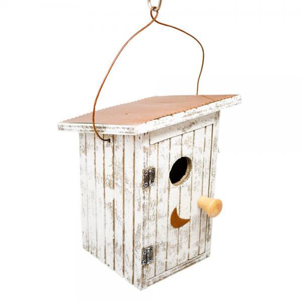 Birdie Loo White Birdhouse
