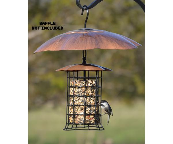 Copper Roof Suet Log Feeder