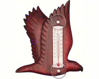 Flying Stained Eagle Small Window Thermometer-SE2170102