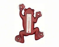 Climbing Stained Frog Small Window Thermometer SE2170104