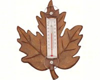 Stained Maple Leaf Small Window Thermometer-SE2170108