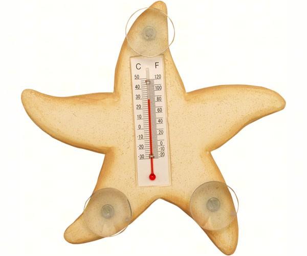 Cream Starfish Small Window Thermometer SE2170411