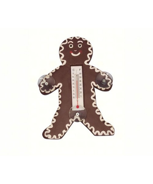 Small Xmas Thermometer-Gingerbread Man SE2170459'