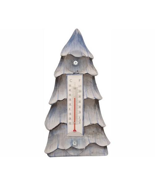 Small Xmas Thermometer-Tree/snow