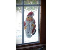 Holiday Cat in Pajamas Small Window Thermometer SE2170463