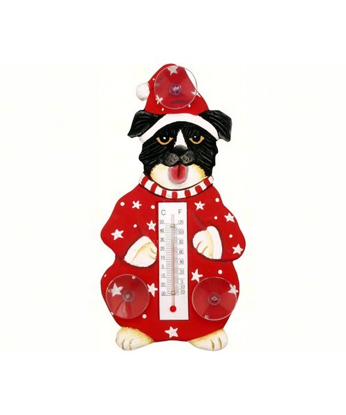 Small Xmas Thermometer- Xmas Mutt/clothes