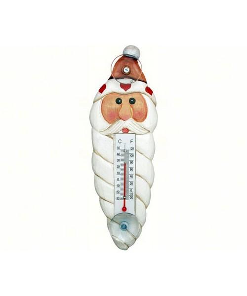Small Xmas Thermometer-Santa Head