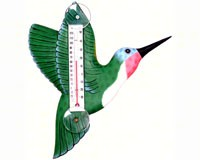 Green Hummingbird Small Window Thermometer-SE2170703