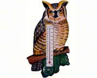 Great Horned Owl Small Window Thermometer-SE2170720
