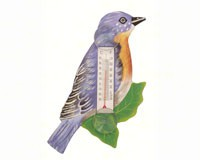 Bluebird on Branch Small Window Thermometer SE2170739
