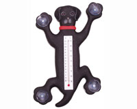 Climbing Black Lab Small Window Thermometer SE2171002