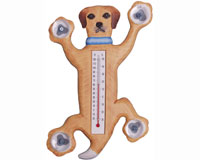 Climbing Yellow Lab Small Window Thermometer SE2171003