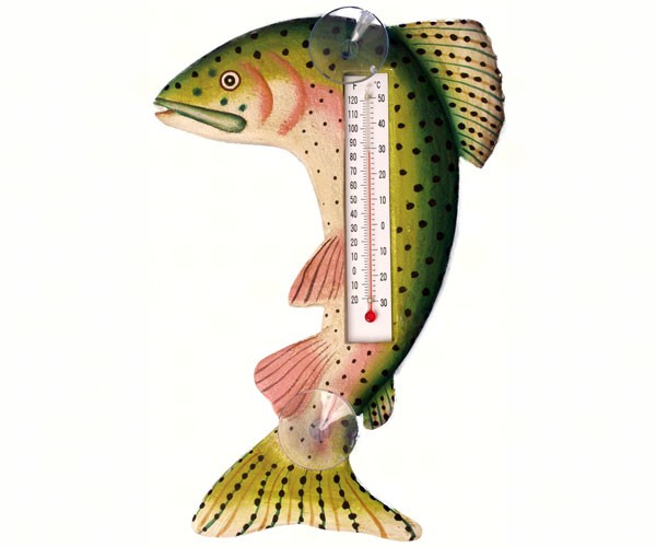 Leaping Trout Small Window Thermometer