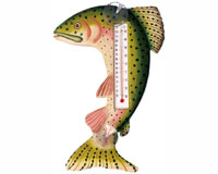 Leaping Trout Small Window Thermometer SE2172003
