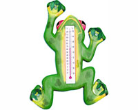 Climbing Green Frog Small Window Thermometer-SE2172100