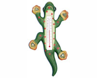 Climbing Green Spotted Gecko Small Window Thermometer SE2172104
